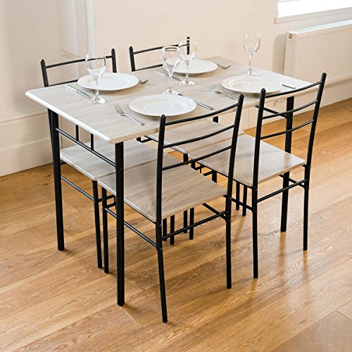 Cecilia 5 Piece Dinner Table and Chairs Set