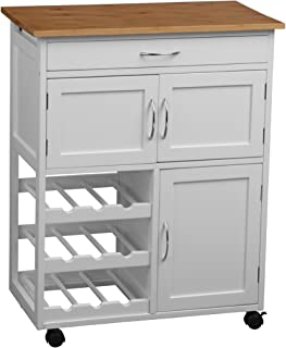 Premier Housewares Kitchen Trolley with Bamboo Top