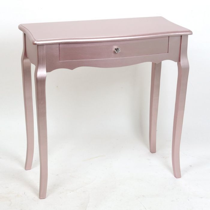 Rosegold Metallic Shabby Chic Console Bedside Table