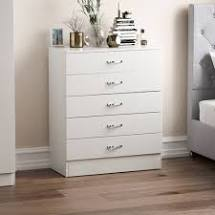 Home Discount Riano Bedroom White Chest of 4 Drawers