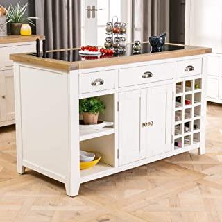 Dijon Cream Painted Furniture Large Granite Top Kitchen Island Unit Worktop